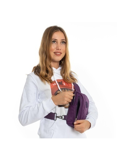 Bebebebek Klinkir Body Bag Unisex Postacı Çantası Mor